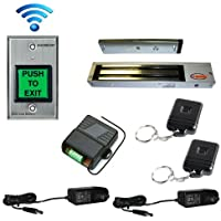 FPC-5179 One door Access Control outswinging door 600lbs Electromagnetic lock with Seco-Larm Wireless Remote and Seco-Larm Wireless SD-8202GT-PEQ kit