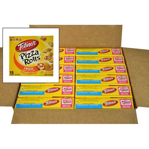 - Totinos Pizza Rolls Snacks, 15 Count, Cheese, 7.5 Ounce -- 12 per case.
