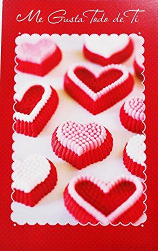 Me Gusta Todo de Ti - Feliz Dia de San Valentin / Happy Valentine's Day Greeting Card in Spanish (Husband Esposo Wife Esposa Boyfriend Novio Girlfriend Novia)