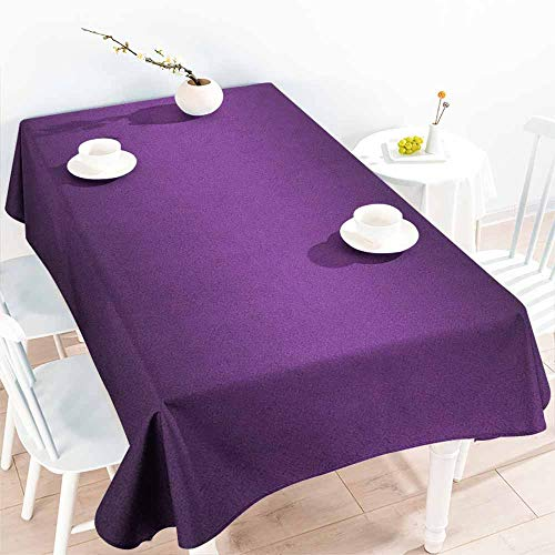 EwaskyOnline Large Rectangular Tablecloth,Ombre Cinema Curtain Movies Series Inspired Color Ombre Design Digital Artsy Styled Print Image,Dinner Picnic Table Cloth Home Decoration,W52x70L, Purple ()