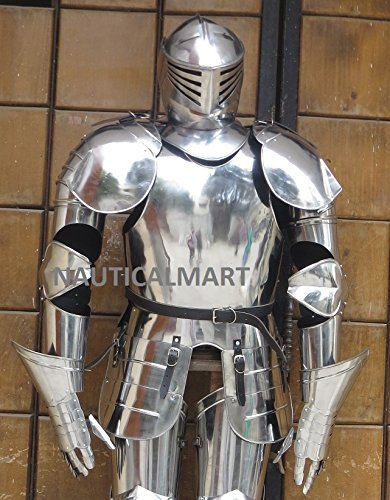 Body Armor Suits (NauticalMart Medieval Knight Wearable Full Suit Of Armor Collectible Armour Costume)