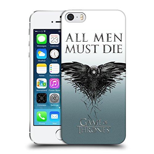 Officiel HBO Game Of Thrones Tous Les Hommes Art Clé Étui Coque D'Arrière Rigide Pour Apple iPhone 5 / 5s / SE