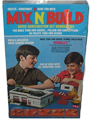 Mix N Build Funtime (1970) Vintage Brick Construction Building Toy Set