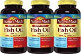Nature Made Burp-less Fish Oil, 1000 Mg, 300 mg Omega-3, 3 Pack (320 Liquid Softgels Each) Ey5hy Nature-rF