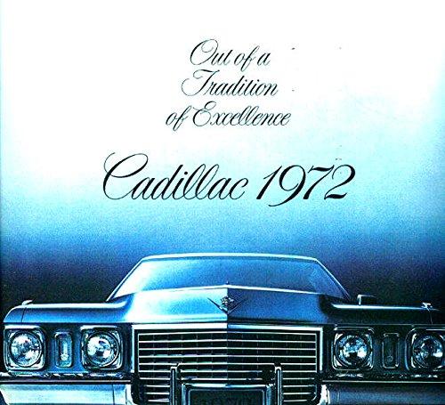 FULL COLOR 1972 CADILLAC'S DEALERSHIP SALES BROCHURE - ADVERTISEMENT Showing - Brougham, Seventy-Five, Eldorado, Sedan deVille, Coupe deVille, Calais, Coupe, limousine, convertible