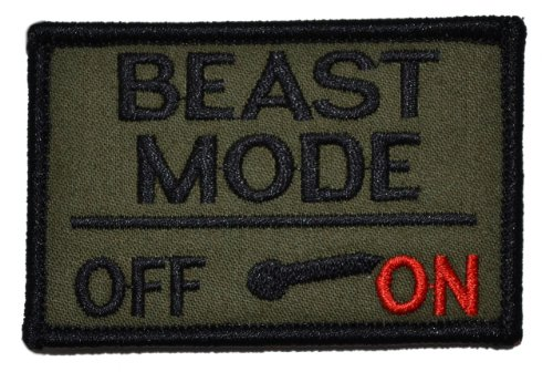 Beast Mode Activated 2x3 Morale Patch - Olive Drab