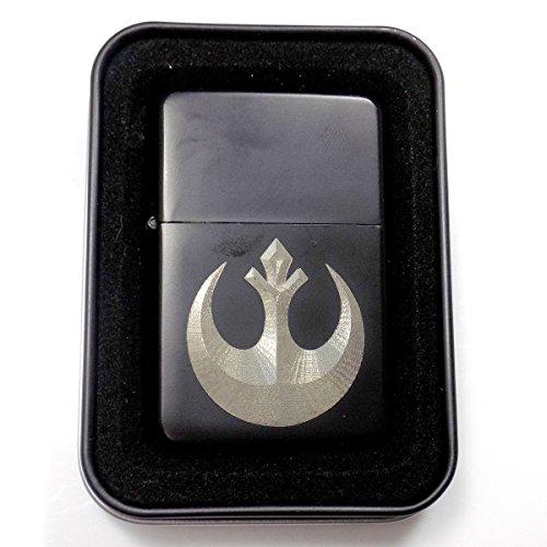 Rebel Symbol Star Wars Black Engraved Cigarette Metal Lighter Gift LEN-0113