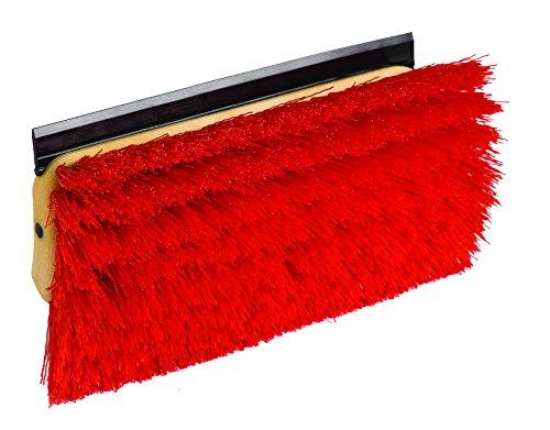 O'Cedar Commercial 96615 Bi-Level Floor Scrub Brush with Squeegee (Pack of 6) (Floor Brush Scrub 10')