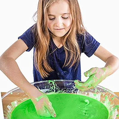 Steve Spangler Science Oobleck Mix, 16 oz Powder Packets, Green Slime – Science Kits for Kids, Safe, Non-Toxic, Environmentally Friendly, Encourages Creative STEM Learning for Classrooms or Home: Industrial & Scientific