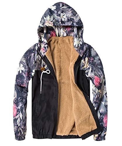Floral Jacket Fit Los De Estilo Hombres Capucha Pilot Chaqueta De Floral Hip Casual Coat De Los Bomber Schwarz Los Bomber Hombres Sudaderas con Slim Chaqueta Hop Simple Gruesa Hombres aOaXR4wq