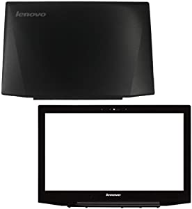 Laptop Replacement LCD Front Bezel and Top Back Cover Case Compatible for Lenovo IdeaPad Y50-70 Y50-70A Y50-80 No Touch 15.6