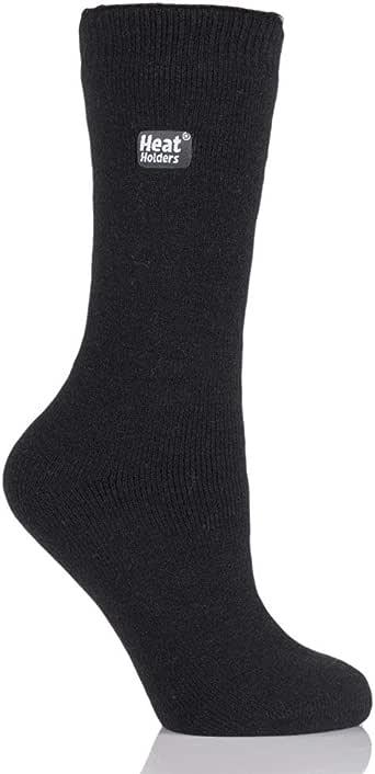 Heat Holders Women's Lite Thin Lightweight Warm Winter Thermal Casual Crew Socks