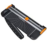 #6: Jielisi 12 Inch Paper Cutter, A4 Paper Trimmer with Automatic Security Safeguard Guillotine for Coupon, Craft Paper, Label and Photo, Black