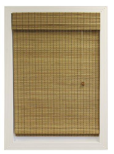 CALYX Interiors bambú para persianas romanas, Oriental Ginger, 34-Inch Width by 74-Inch Height, 1