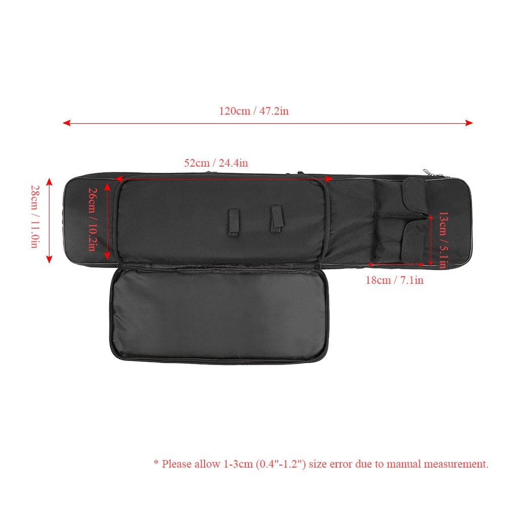Festnight 95cm / 120cm Outdoor Hunting Gun Carry Bag Gear Protection Case with Adjustable Shoulder Strap, Black by Festnight (Image #6)
