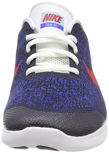 Nike Unisex-Kinder Free RN 2017 (GS) Laufschuhe Blau (Obsidian/university Red-racer Blue-photo Blue 405)