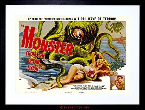 The Art Stop Movie Film Monster Ocean Floor Octopus Horror Framed Print F97X4123