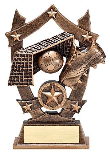 Decade Awards Soccer 3D Gold Sport Stars Trophy | Star Futbol Player Award | 6.25 Inch Tall - Customize Now