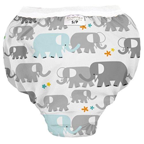 Kushies Baby Waterproof Training Pant (38-44 Pounds), White Elephants, X-Large