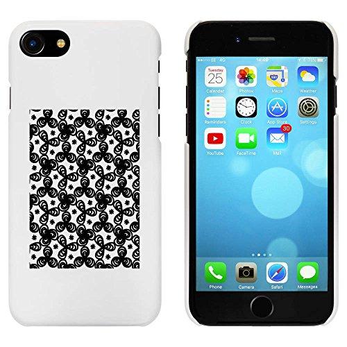 Blanc 'Motif Fleur' étui / housse pour iPhone 7 (MC00084879)