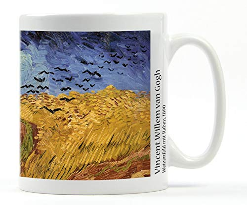 Vincent Van Gogh, Wheat Field with Crows, 1890 Photo Coffee Mug Plus 1 Sticker