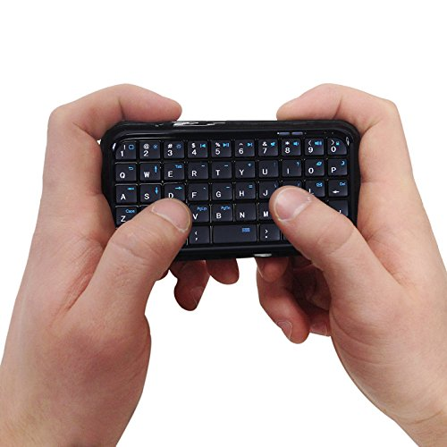 HDE Bluetooth 3.0 Keyboard Mini Travel Size Wireless Pocket Keypad for Sony Playstation PS4 + Tablets + Smartphones