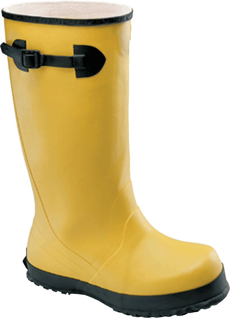 Bata Shoe 88050-14 Onguard Industries Size 14 Slicker Yellow 17 PVC and Flex-O-Thane Overboots with Self-Cleaning Cleated Outsole and Strap 17 x 14 x 1 17 x 14 x 1 Plastic 15.34 fl English oz