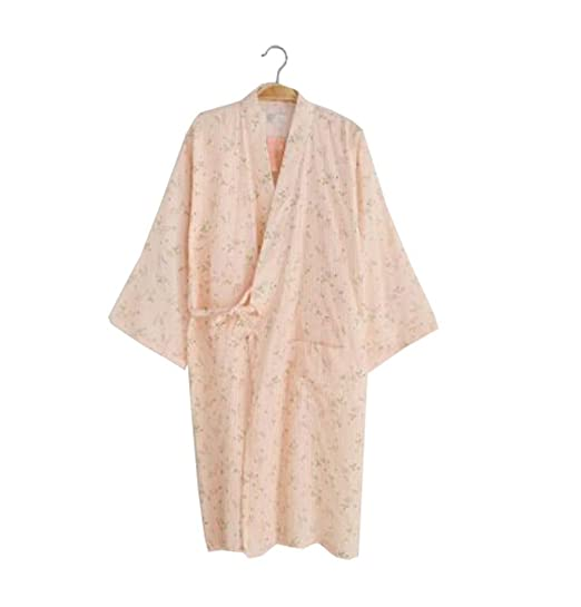 Image Unavailable. Image not available for. Color  Ladies Lightweight  Cotton Dressing Gown Bathrobe ... c210bf931