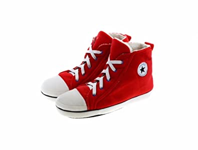 4c176c5d6e94 Girls or Boys Novelty Baseball Style Hi Top Slippers in Various Colours  (11 12