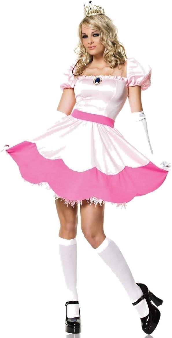 Nuevas señoras rosa princesa Peach elegante rosa skater vestido ...