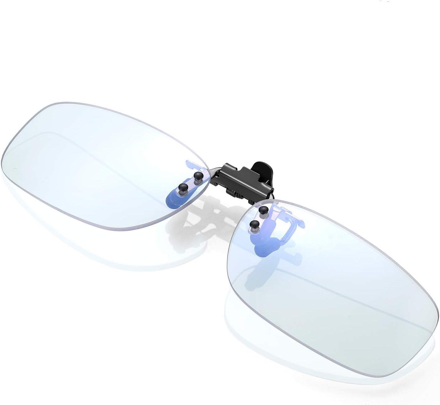 ⭐️KLIM Protect OTG - Gafas de clip para bloquear la luz azul - Alta protección frente a la pantalla - Gafas Gaming para PC, móvil, TV - Anti fatiga, Anti luz azul - NUEVAS 2020