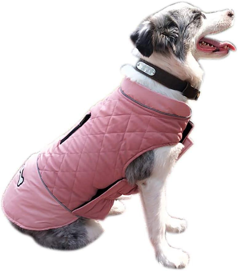Medianas y Grandes Ropa Impermeable para Mascotas peque/ñas Disponible en Ambos Lados Cheng Yi Chaleco de Invierno para Mascotas