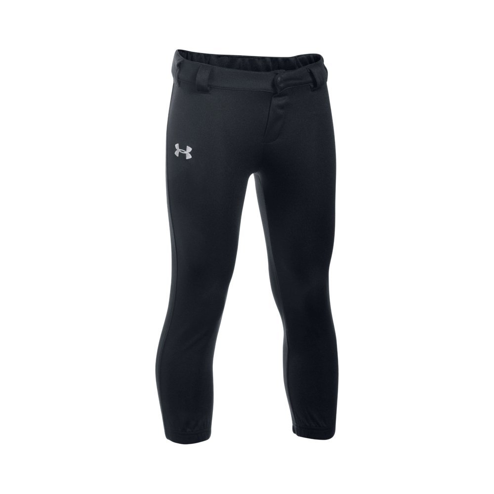 Under Armour Little Boys' Baseball Pant, Black, 4 by Under Armour