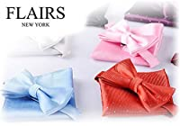 Flairs New York Gentleman's Essentials Bow Tie and Pocket Square Matching Set