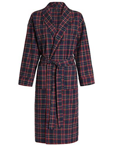 - Latuza Women's Cotton Flannel Robe XL Red & Navy