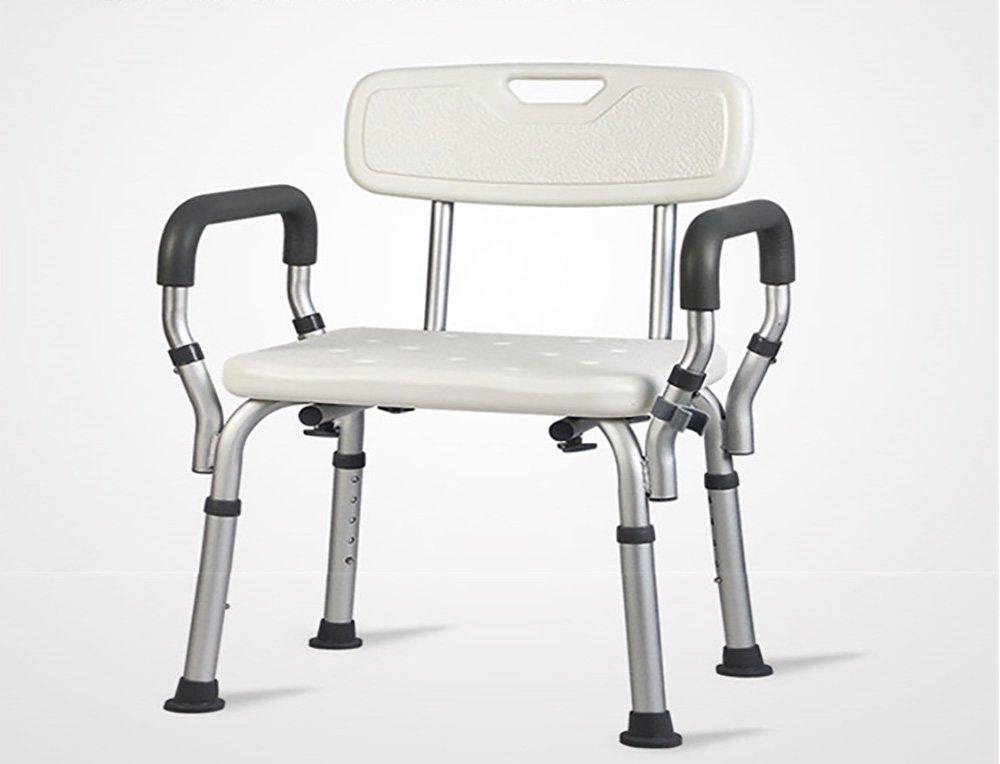 Mariny オールドマンお風呂の椅子とスツールアームレストシャワーチェア妊婦バススツールアンチスキッドシャワーチェア B07DCN3CXB