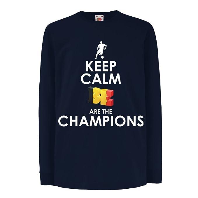 Niños/Niñas Camiseta Los belgas Son los campeones: Campeonato de Rusia 2018, Copa