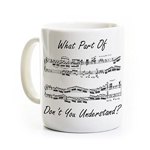 Funny Musician Coffee Mug Personalized Ceramic What Part Dont You Understand