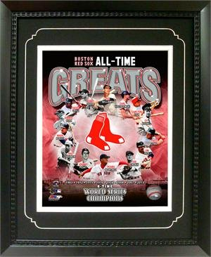 11x14 Deluxe Framed Official Photograph - Boston Red Sox Greats ()