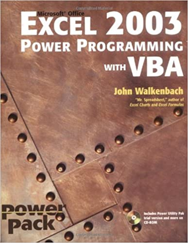 Excel 2003 Power Programming with VBA (Book & CD-ROM): John ...