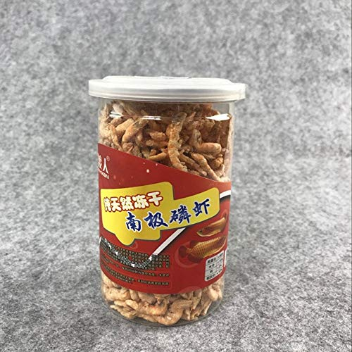 Fevas 660ml/3000ml Pure Natural Freeze-Dried Krill high Nourishment Dried Shrimp for Dragon Fish Foods Turtle Tortoise Feed - (Color: 600ml)