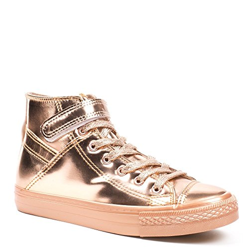 Ideal Shoes, Damen Sneaker Champagne