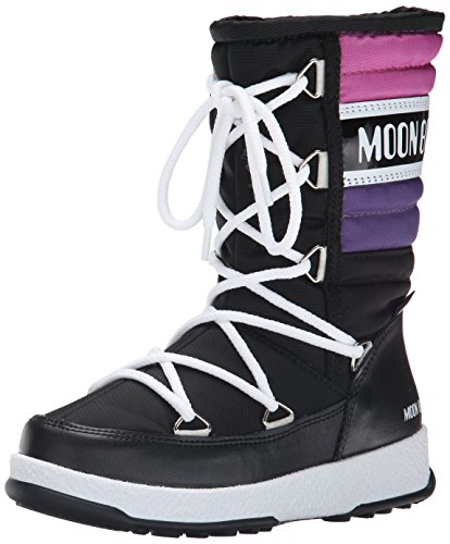 Moon Boot We Quilted JR Winter Fashion Boots, Black/Violet/O