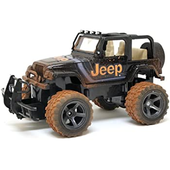 Amazon new bright chargers ff 4 door jeep rc vehicle 118 new bright rc ff 64v mud slinger jeep wrangler vehicle 1 sciox Gallery