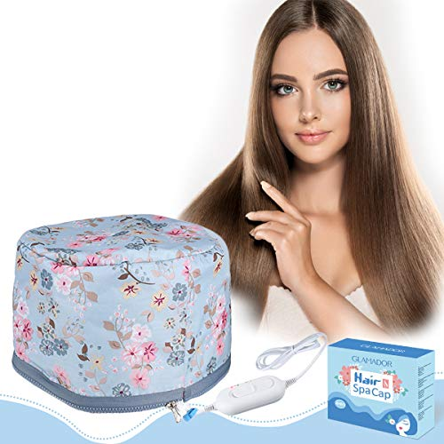 110V Hair Care Hat, GLAMADOR Electric Hair Cap, Thermal Cap For Home Hair Spa Hair Steamer Cap Beauty Nourishing Hair…