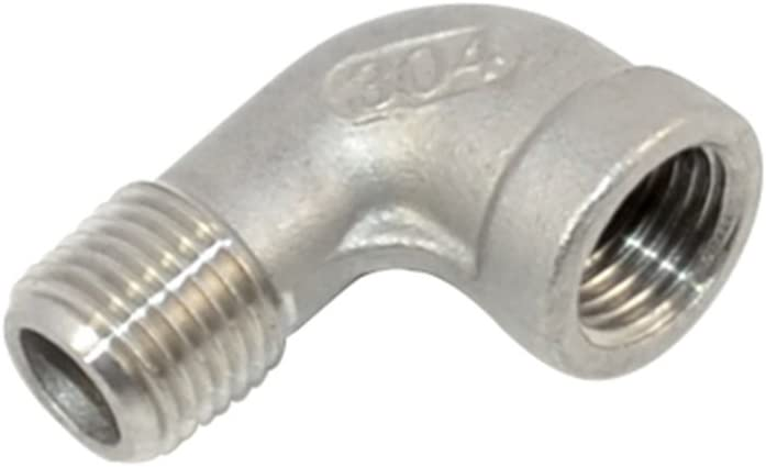 """2PCS Stainless steel 304 Pipe Fitting Adapter 1//4/"""" NPT Male x 1//4/"""" NPT Female"""