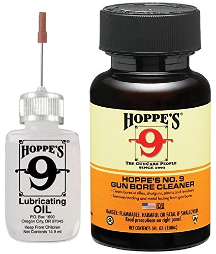 Hoppe's No. 9 Needle Oiler 3060 & 5oz Gun Bore Solvent Cleaner 904