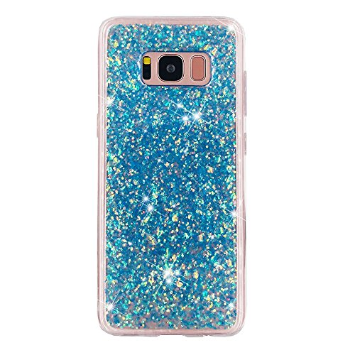 Urberry Samsung Galaxy , Luxury Sparkle Glier Case Cover for G with a Free Screen Protector (Blue)