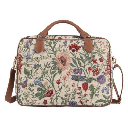 tessuto 15 stile al Signare donna moda di pollici in mattino Giardino arazzo Borsa alla 6 briefcase wvg4qX