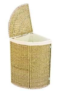 Woodluv cesto para la ropa sucia esquinero con tapa - Cesto ropa sucia amazon ...